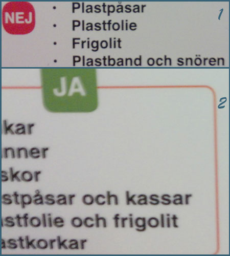 frigolit sorteras som plast